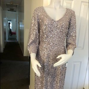 Stunning champagne color evening dress